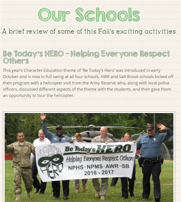 "December ""Our Schools"" Newsletter"