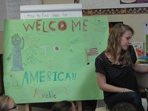 Axelle in Uma's 3rd grade class