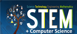 Welcome Page STEM and Computer Science Logo